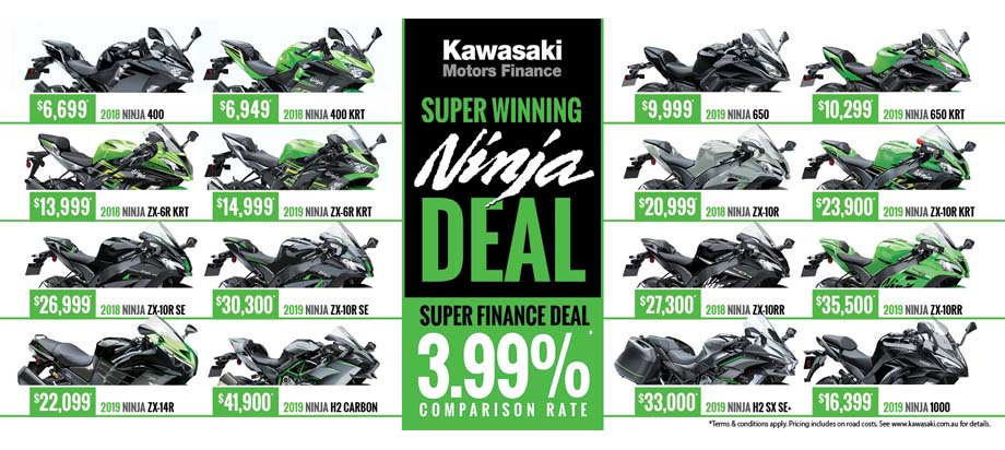 Kawasaki Super Winning Ninja Finance Deal