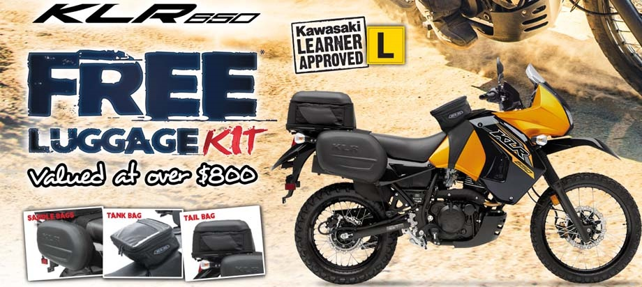Kawasaki KLR650 Free luggade kit worth $800