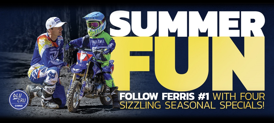 Yamaha Summer Fun 6 months interest free, Gift cards, rebates, stickers